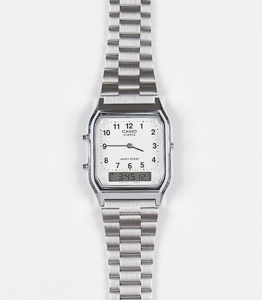 [CASIO 정품]Square Silver Metal WatchFree / one color